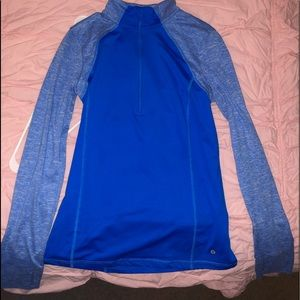 Blue, sports pull over